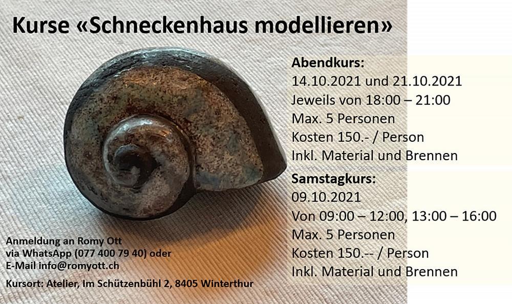 Kurse «Schneckenhaus modellieren»