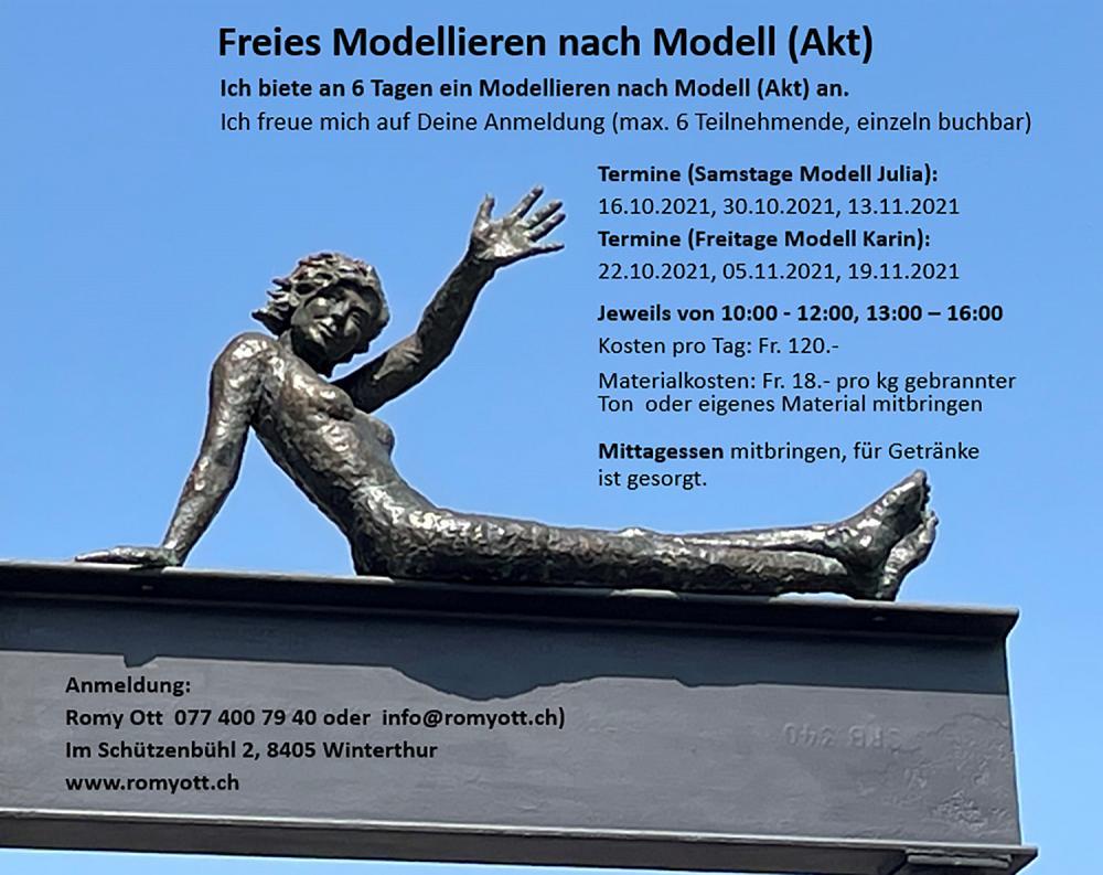 Freies Modellieren nach Modell (Akt)